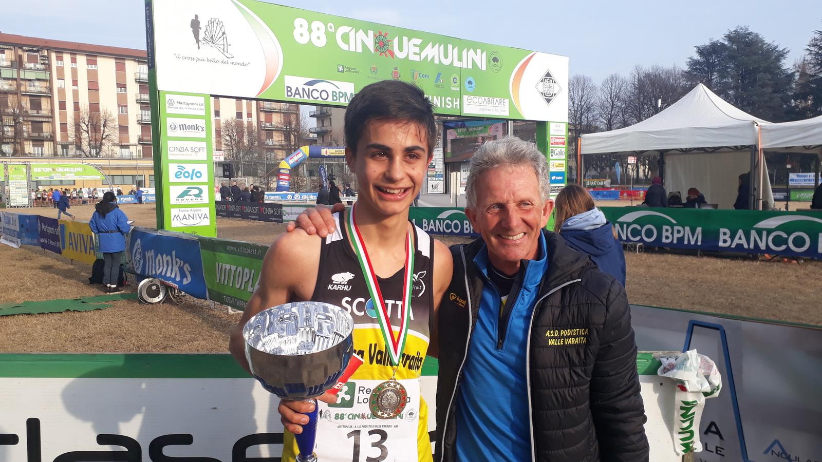 Elia Mattio vincitore 5Mulini con Peyracchia Giulio